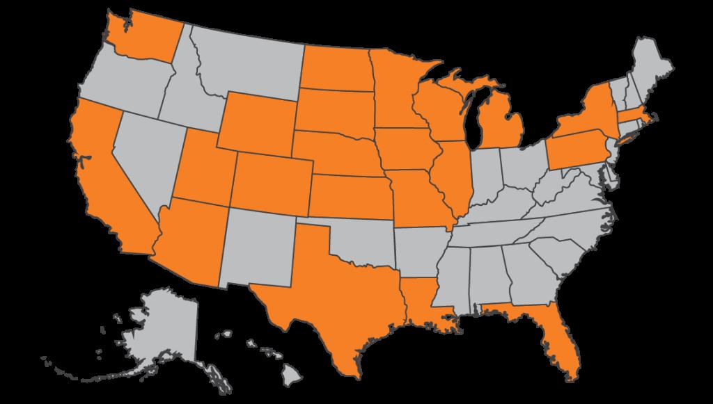 Map of Grads 2017