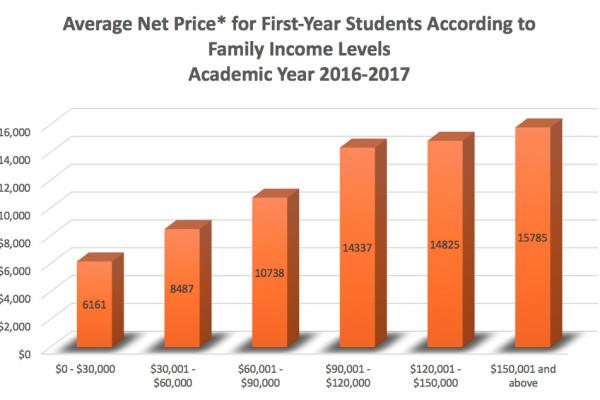 Average Net Price Chart 16-17