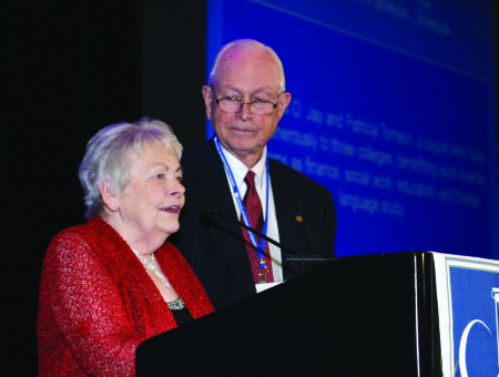 Tomsons recognized for support of Lutheran colleges
