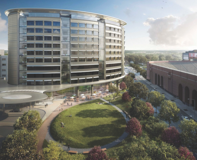 Stead Family University of Iowa Children's Hospital rendering, courtesy Foster + Partners