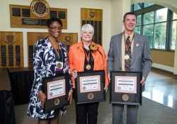 ReShonda Young '97, Susan Vallem '66, and Frederick Burrack '81 received a 2016 Wartburg Alumni Citation during the college's Homecoming celebration.
