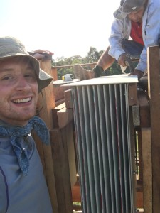 Tyler Vogel '17 worked with members of the Maijuna community in Peru to construct bat houses that would attract insect-eating bats to the area.