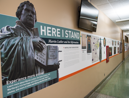 New heritage wall finds home in Luther Hall