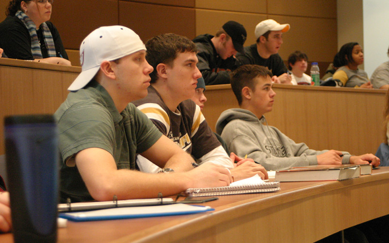 Students in Hagemann Lecture Hall