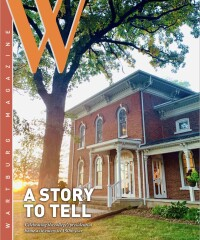 The sun sets on Greenwood on the cover of the Summer 2021 alumni magazine