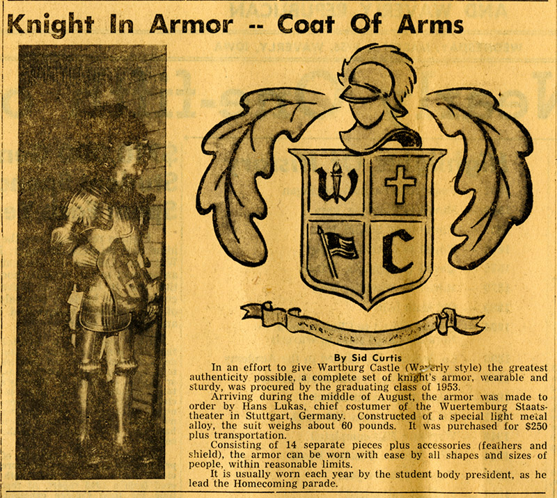 Knight History: Bremer Co. Independent Article about Coat of Arms