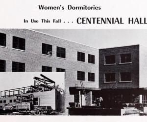 Centennial Hall - 1950s construction photo