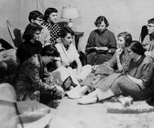 Floor meeting - 1950s Centennial Hall
