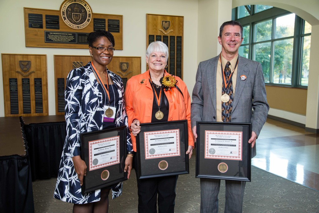ReShonda Young '97, Susan Vallem '66, and Frederick Burrack'81 received a 2016 Wartburg Alumni Citation during the college's Homecoming celebration.