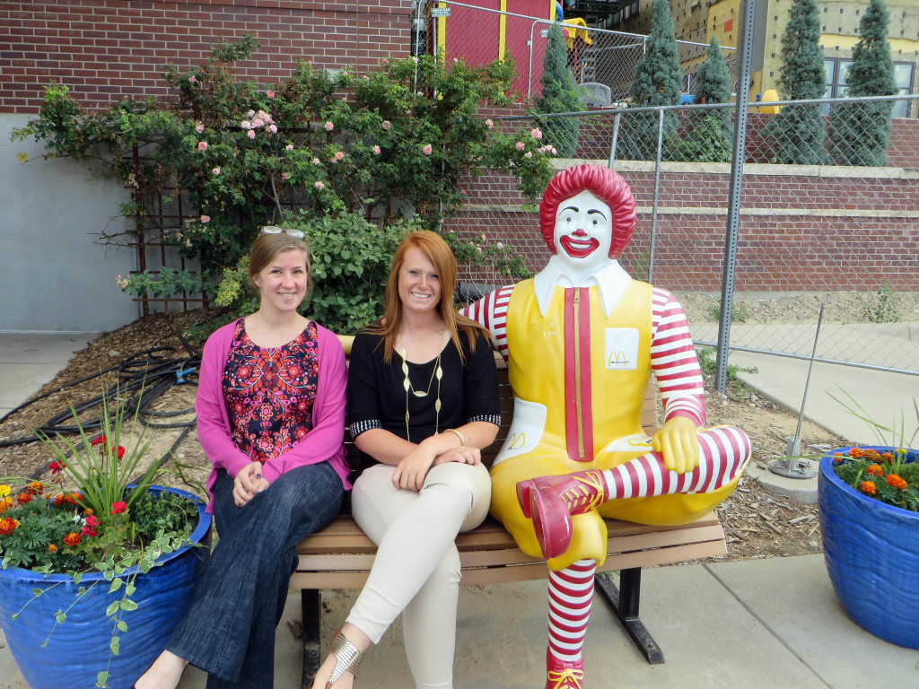 Dani Gordon, center, at her Wartburg West internship at the Ronald McDonald House