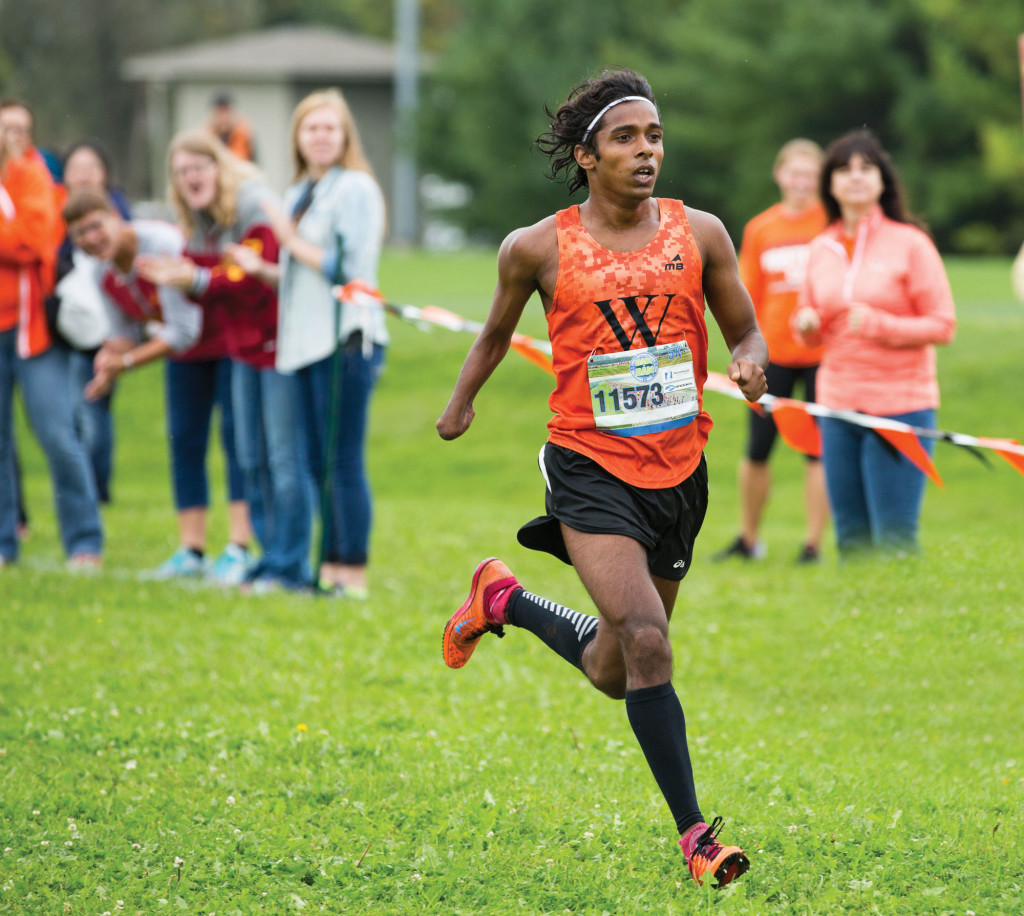 Kailas Kokare '17 competes in Wartburg's Dan Huston Invitational.