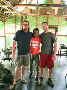 Dr. Michael Bechtel '94 and Tyler Vogel '17 partnered with Iquitos-native Elvis Valderrama to make connections in the community.