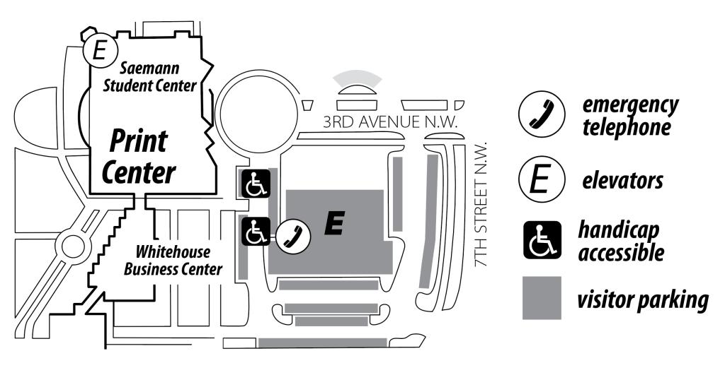 Print Center Map
