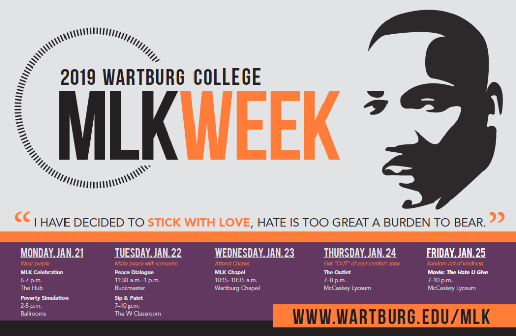 MLK Week poster graphic