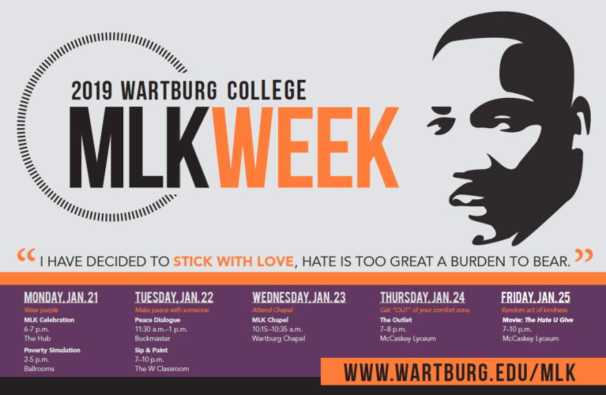 MLK Week poster graphic
