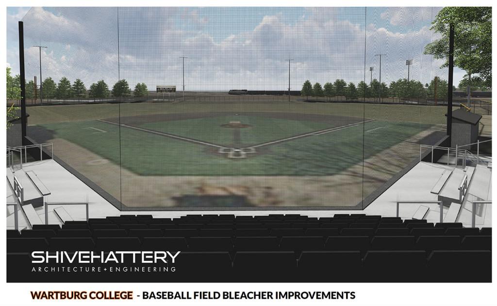 Baseball Seating Rendering Facing Field