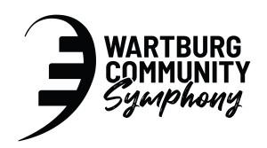 Wartburg Community Symphony Logo Black