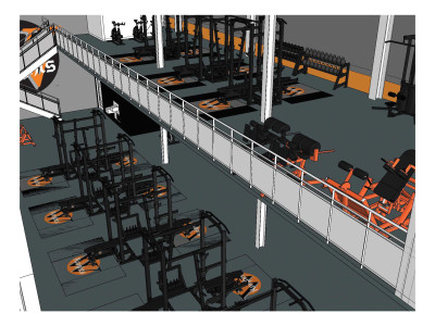 Weight Room rendering