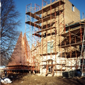 Chapel Construction with scaffold