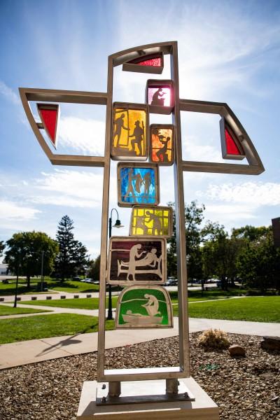 Lebenskreuz Cross Sculpture