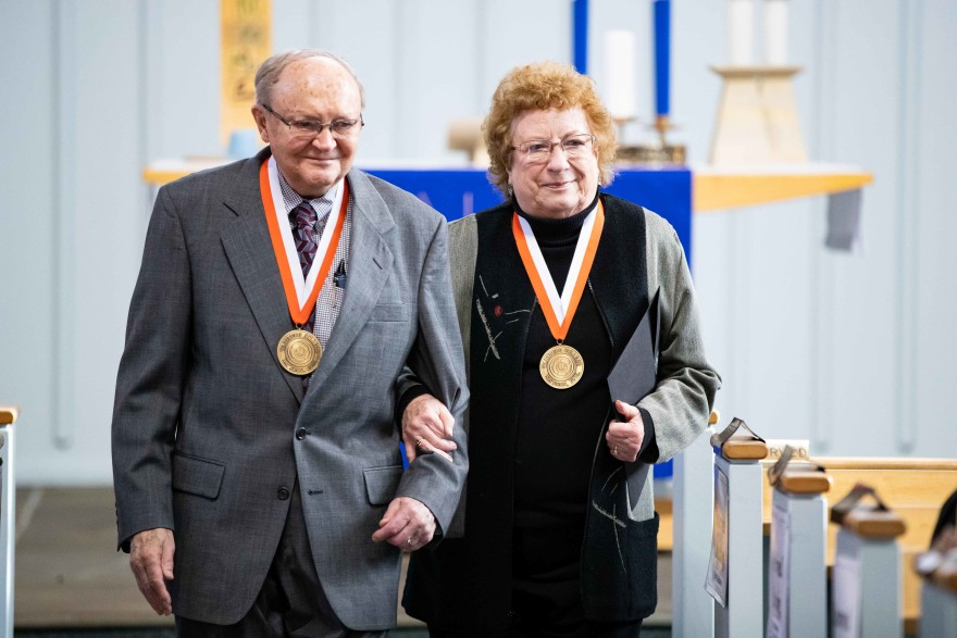 Harold and Grace Kurtz presented with the Wartburg Medal