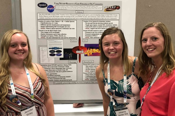 Jennifer Wiley, Johanna Vander Wilt, and Hannah James presented at the American Astronomical Society winter meeting in Honolulu.