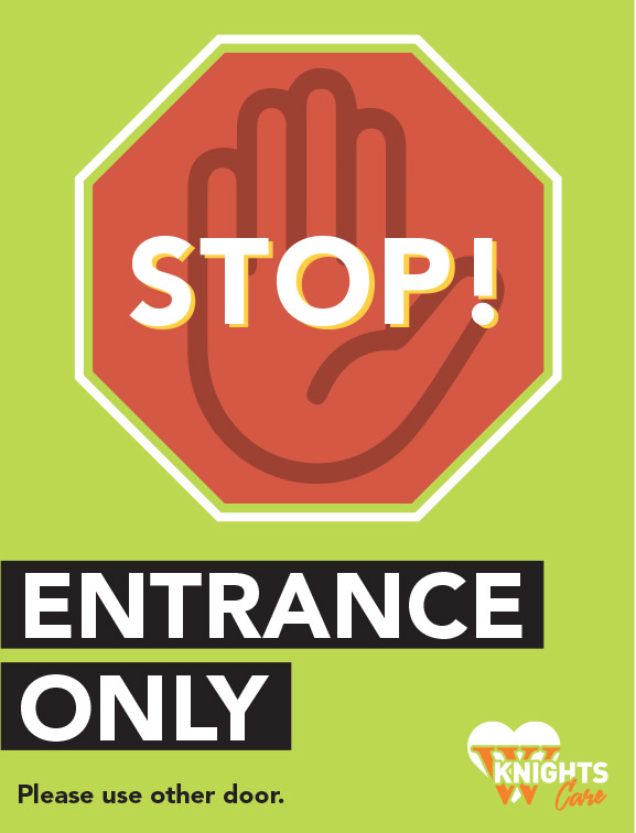 entrance only stop