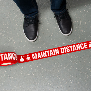 Maintain Distance Physical Distancing Tape