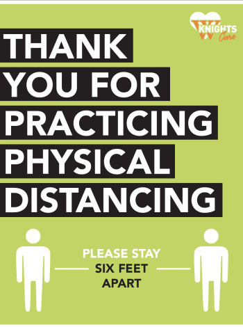 Thank you for practicing physical distancing