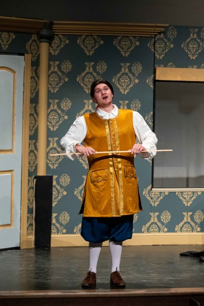"""Levi Capesius '21 in """"The Marriage of Figaro"""""""