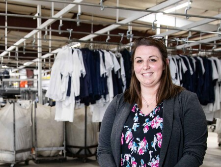 Hauber cut her creative chops and nurtured a new division at a family-owned laundering business